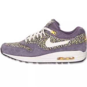 Nike Liberty Of London Purple Floral Sneakers Shoe